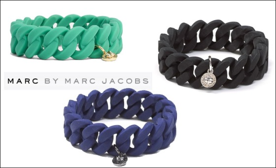 marc by marc jacobs Rubber Turnlock Stretch Bracelet