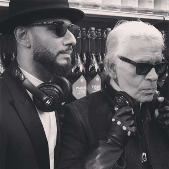 Swizz-Beatz-and-Karl-Lagerfeld-600x599