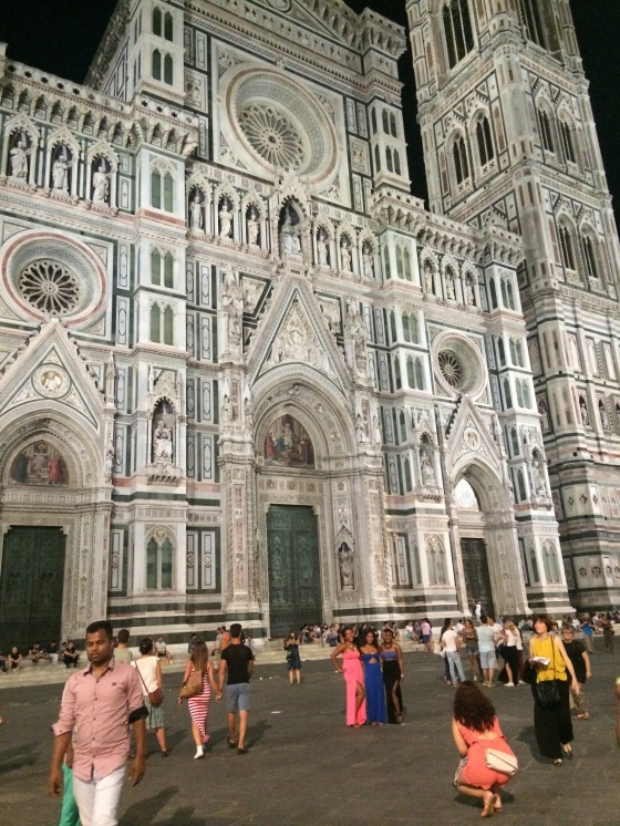 The Duomo Cathedral (At night and there are still this many tourists out!)
