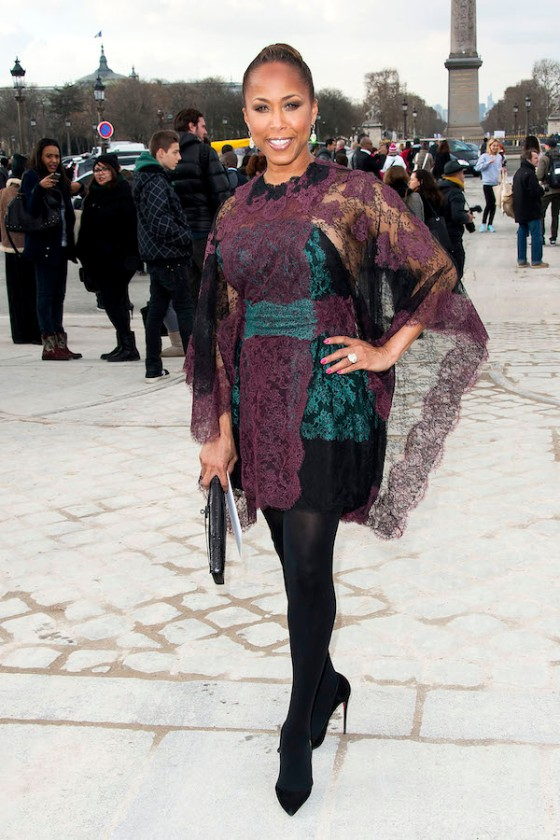 Marjorie Harvey attends the Valentino Fashion Show **USA ONLY**