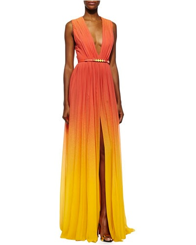ELIE SAAB OMBRE HIGH SLIT GOWN