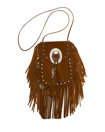 SAINT LAURENT ANITA SUEDE FRINGE BAG