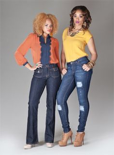 PZI Jeans Vintage High Waist Boot & Adrienne Distressed Skinny