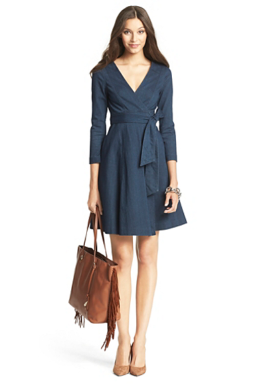 Diane Von Furstenberg Christa Denim Wrap Dress