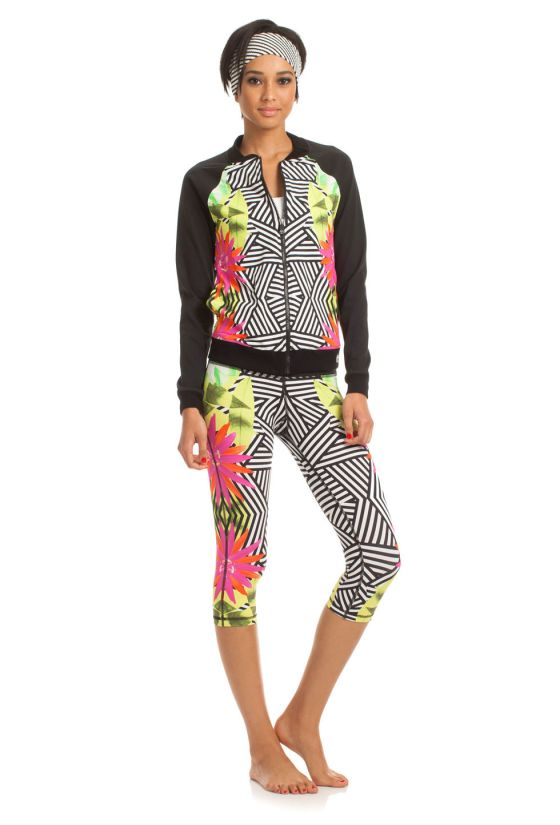 Tropicana Midlength leggings and jacket - Trina Turk