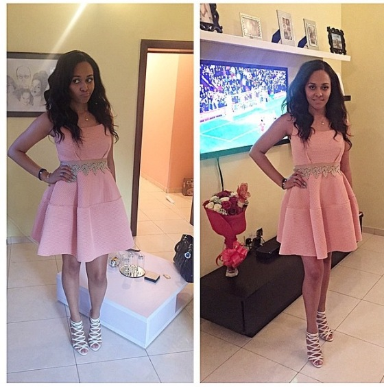 Maju Brand Ambassador Tania Omotayo wearing 'The Tania' Dress