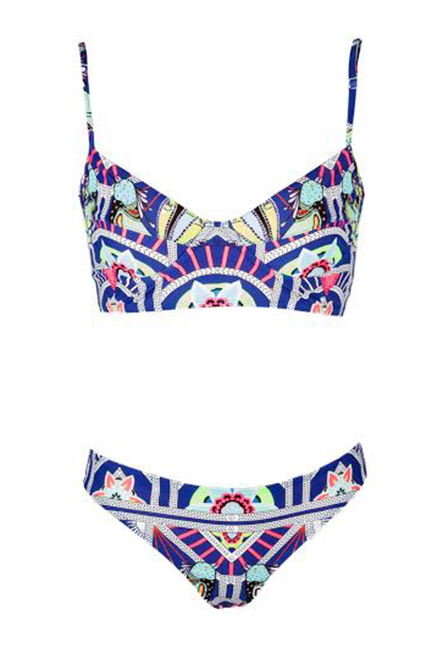 Mara Hoffman Ananda Navy Cami Bikini, $224; marahoffman.com