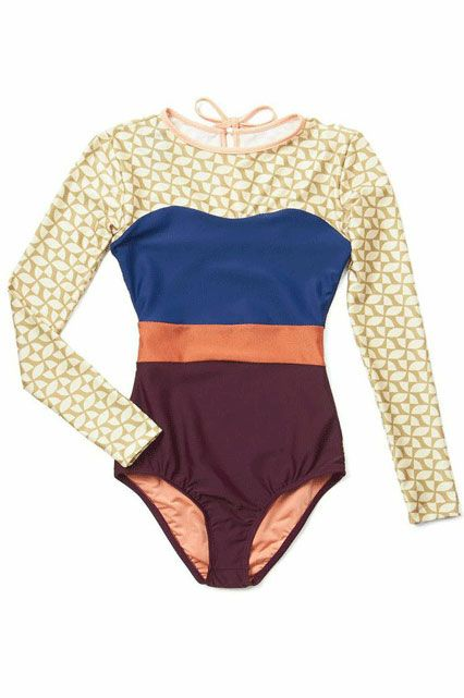 Seea Smooth Surfing One-Piece Swimsuit in Tile, $134.99; modcloth.com