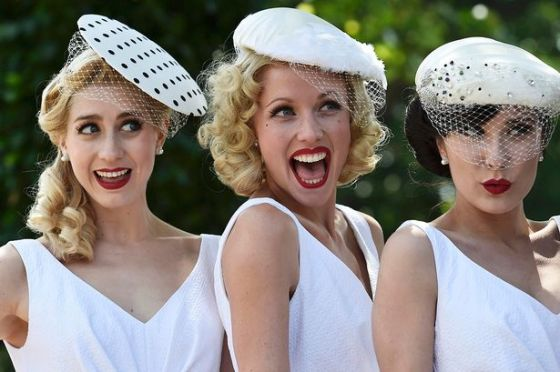 Race-goers-pose-on-Ladies-Day-at-Royal-Ascot