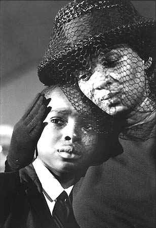 Mrs. Chaney and young Ben, James Chaney funeral, Meridian, Mississippi, 1964