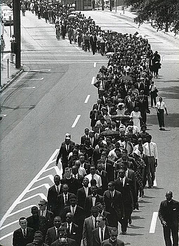 In a Show of Support that Brought Together Different Factions of the Movement, Civil Rights Leaders Joined the Funeral Procession for Medgar Evers, Mississippi, 1963