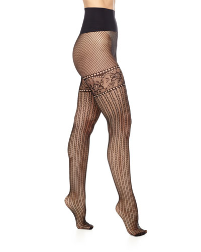 Commando Left Bank Net Sheer Tights, Black $38.00