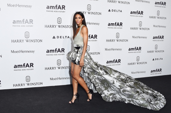 MILAN, ITALY - SEPTEMBER 26:  Ciara arrives at amfAR Milano 2015 at La Permanente on September 26, 2015 in Milan, Italy.  (Photo by Stefania D'Alessandro/Getty Images for amfAR)