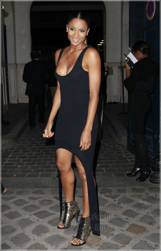 Givenchy's Celebrities Arrivals at Lycee Henri IV in Paris during fashion week. Pictured: Ciara Ref: SPL321802  031011   Picture by: KCSPresse / Splash News Splash News and Pictures Los Angeles:310-821-2666 New York:	212-619-2666 London:	870-934-2666 photodesk@splashnews.com